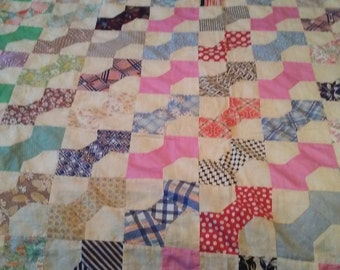 Large Bow Tie Quilt Top