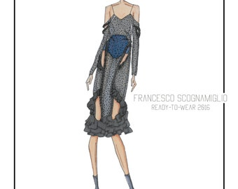 Fashion Illustration - Francesco Scognamiglio RTW 16
