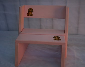 Pink toddler step stool