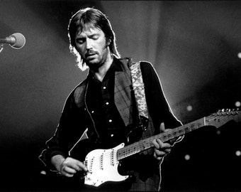 "Eric Clapton Poster 13x19"" Black And White"