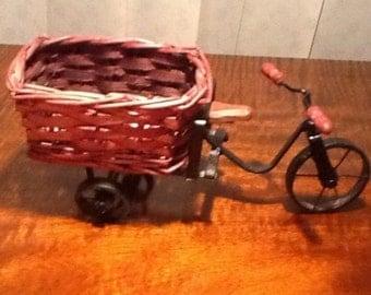 Vintage dolls house wicker/metal bicycle