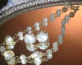 On Sale Stunning Vintage Necklace and Earrings