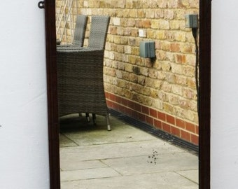 Full height early Victorian Queen Anne style  Walnut framed dressing mirror-VGC
