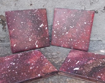 Dark Purple Galaxy Coasters