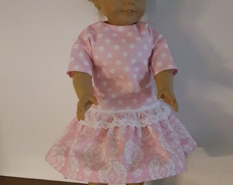 3 Piece Outfit fits American Girl Doll or other 18 Inch Doll