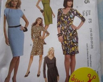 McCalls 5975 Dress Sewing Pattern 16-24