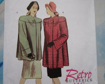 Butterick 5298 1946 Reproduction Coat Sewing Pattern 16-22