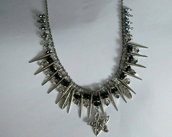 Spikes and all necklace