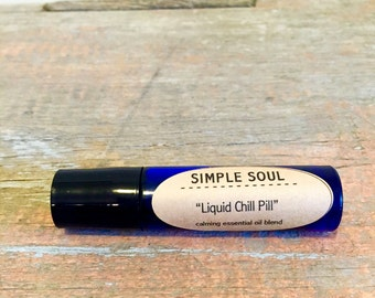 Essential Oil Roller Blend: Liquid Chill Pill Natural Calm
