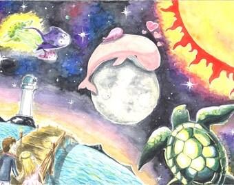 Saw Sea Sun Space Together