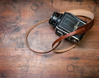 Handmade Leather Camera Strap for Hasselblad Film Cameras