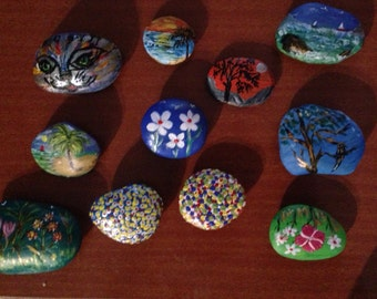 Hand painted stones