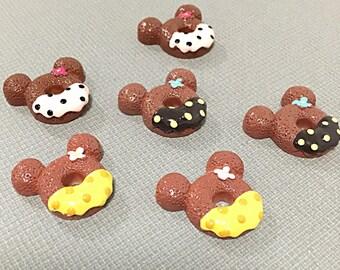 Dessert mouse kawaii donut cabochons