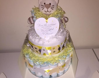 Diaper cake any colours , Baby shower, Baby gift