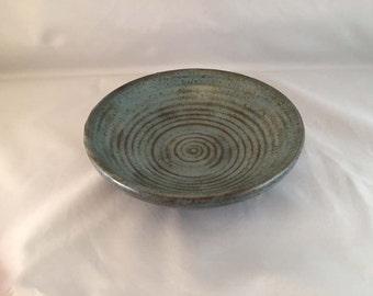 Spiral Blue Stoneware Bowl