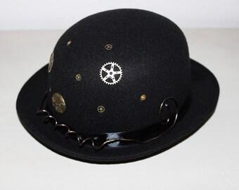 steampunk hat, bowler stylized steampunk