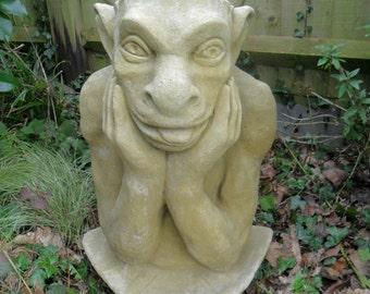 Notre Dame Gargoyle Handmade Faux Sandstone Garden Ornament