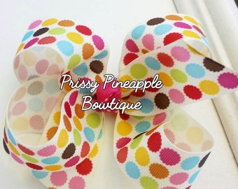 Pop of Color Bow 5in