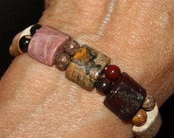 Unique Polished Stone Bracelet