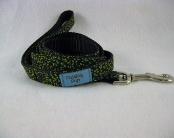 6Ft. Lime Green on Black Print Leash