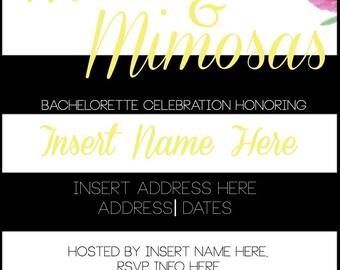 Maxis & Mimosas! Customizable Invitation.