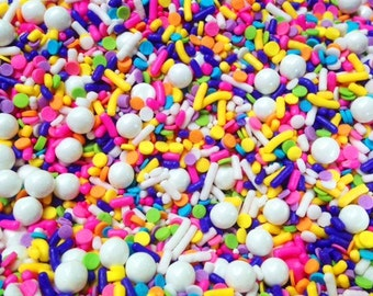 Sprinkles - Sprinkle Mix, Lisa Frank inspired Sprinkles, Birthday Party, Bachelorette, Baby Shower Custom mixes for all events, 4oz