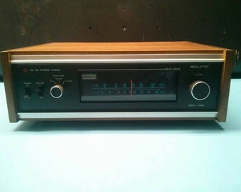 Vintage Audio AM FM Stereo Tuner Sound T-4000