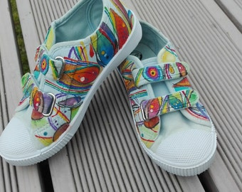 Hand-painted trainers