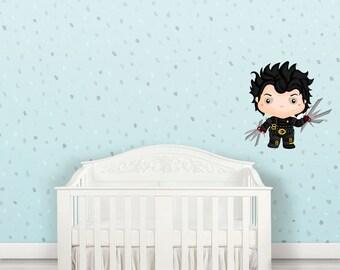 Edward Has Scissors for hands- Geek Wall Decals Kids Wall Art