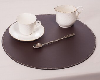 brown round placemats place mats and coasters table mats 33 cm 1299u0027