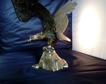 Brass eagle.