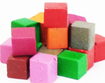 1 lb Assorted Colors Beeswax Blocks - for Candlemaking, Crafts and Encaustic Painting
