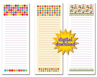 More Colorful Pattern Notepads - Digital Download