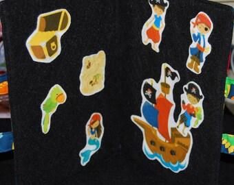 SALE- Felt Board - Flannel Board - Felt Story Board - Story Board - Travel Felt Board - Dinosaur