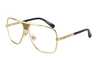 Vintage Retro Luxury eye glasses frames for 2016 top quality gold metal Sunglasses