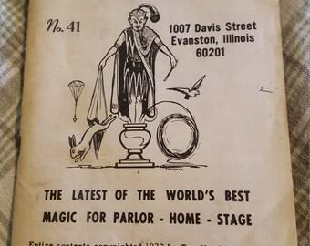 Top hat magic company magic trick catalog 1977 100 pages