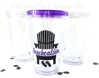 Adirondack Tumblers/Beach Tumbler/Beach Lovers/Beachcation/Cute Tumblers/Tumbler Gifts/Beach Gifts/Beach Cup/ Beach Adirondack Chair