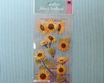 Sunflower scrapbook stickers by Jolee's Boutique