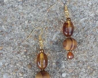 Classy Brown Earrings