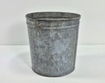 Vintage Maple Buckets. Shabby Chic Container. Modern Farmhouse Bucket. Chic Industrial Container. Joanna Gaines. Vintage Galvanized Tub