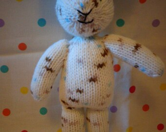 knitted bunny,Hand Made, Gift, Hand Knitted