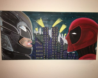 Batman vs Deadpool 18x36