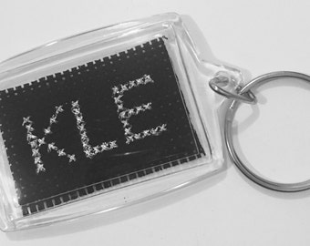Key ring personalised initials name accessory cute present gift
