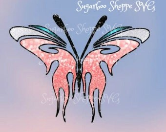 Butterfly SVG/Silhouette/Instant Download of ZIP file with svg, pdf, jpg, png, and dxf included./Vinyl projects or vinyl decals