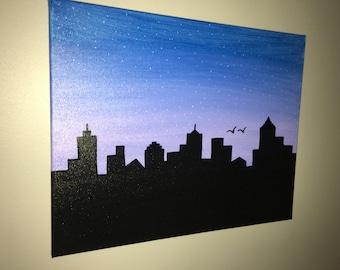 Skyline painting