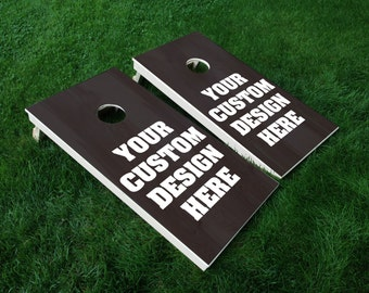 Make your own Cornhole Wrap! Custom Full Wrap Cornhole Wrap Decal Sticker SET OF 2 PRINTS
