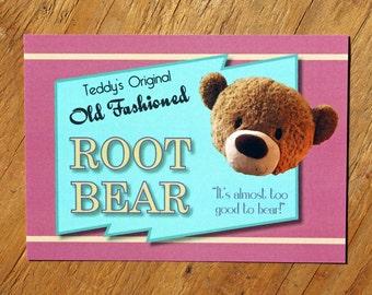 Teddy's Original Old Fashioned Root Bear Postcard