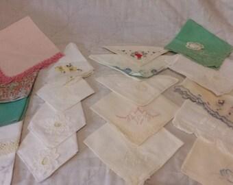 Vintage homemade handkerchief