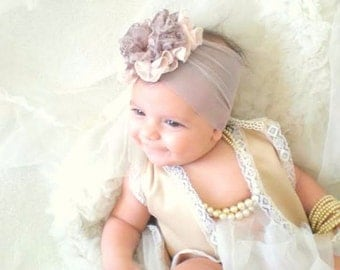 Baby Headband, FREE SHIPPING,  Newborn Headband, Baby Girl Flower Headband, babygirl headbands, headbands for babies,flower headband baby