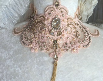 Wedding Jewelry. Rustic Lace Wedding Accessories.